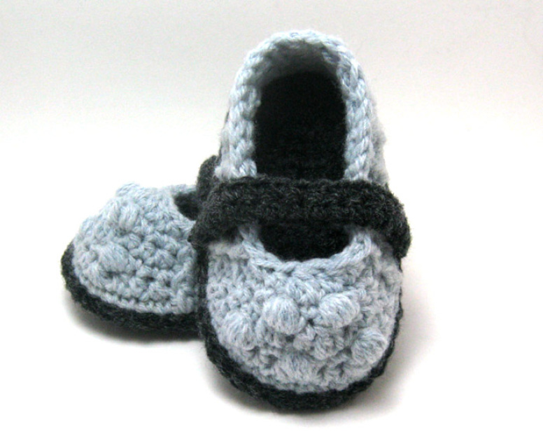 Crochet Pattern for Lilly Baby Slippers (Babies 0-12 months) - P0047